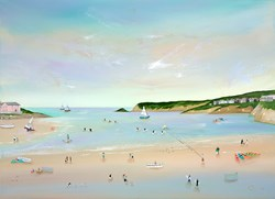 Kites 'n' Kayaks by Lucy Young - Original Painting on Stretched Canvas sized 39x29 inches. Available from Whitewall Galleries